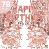 Happy Goods® Verjaardag versiering Feestpakketten Rose Goud - 79 stuks