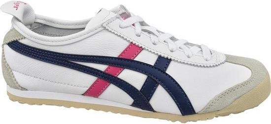 Onitsuka Tiger Mexico 66 Unisex Sneakers - White/Navy/Pink - Maat 39