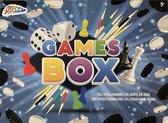 Games box - Spellendoos - Spel - Gezelschapsspel - Gezelschapsspellen - Speldoos - Schaken - Spel - Bordspel - Ludo - Dammen - Gezelschapsspelletjes - Familie - Spelen - Cadeau - Games - Fun - Games Box - 176 DELIG