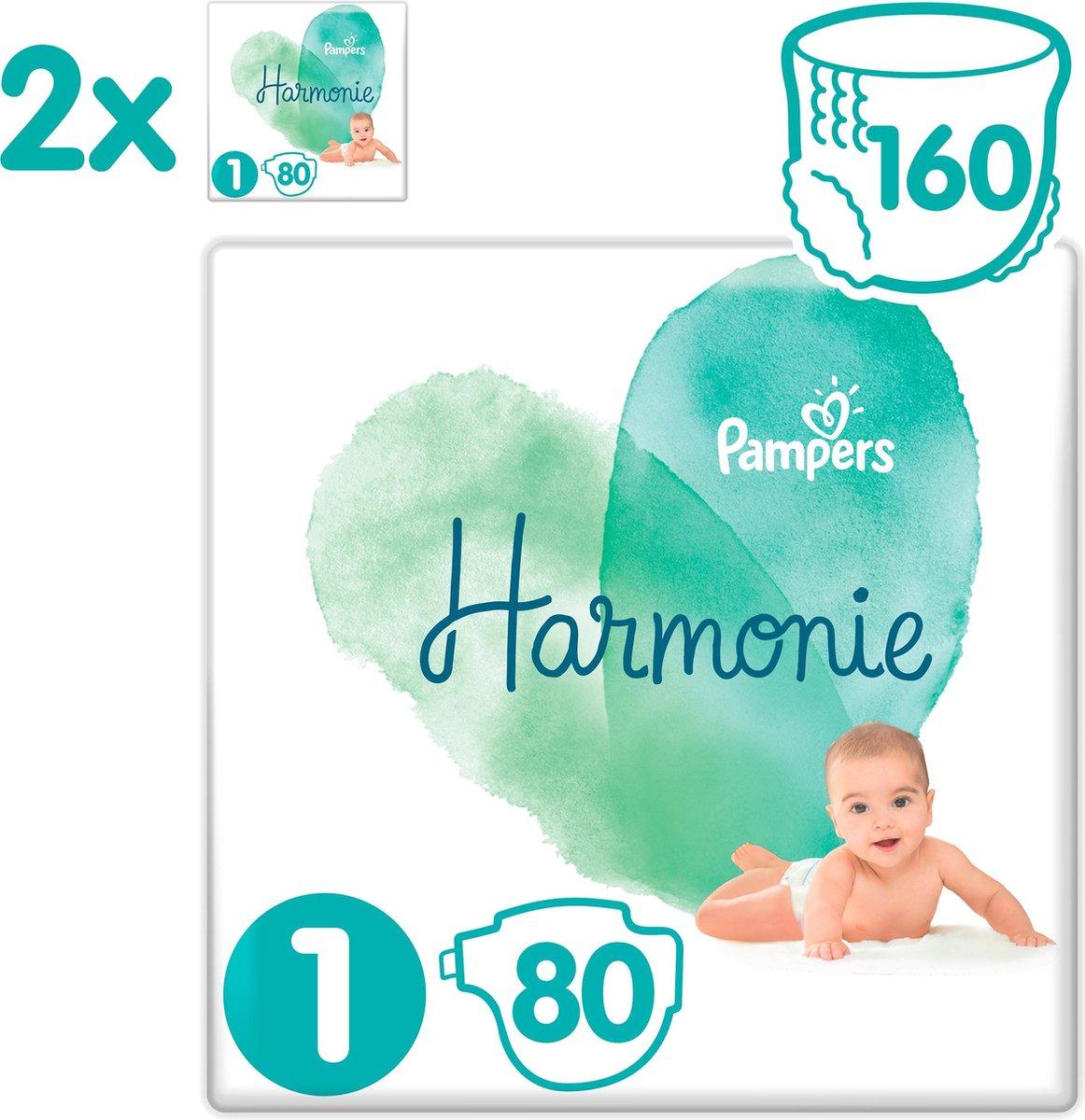 Pampers Harmonie / Pure Maat 1 (2-5kg) 160 Luiers