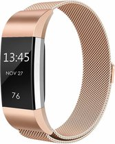 123Watches.nl Fitbit charge 2 milanese band - rose goud - SM