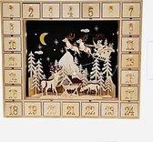 S&L Luxe Xmas advent calender Box adventkalender box met LED  hout met gratis led versiering  (zie foto)