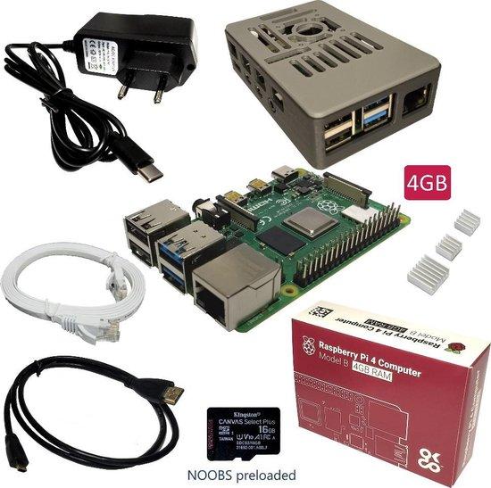Raspberry Pi 4B - starter kit - 4GB - 16GB SD-kaart