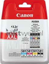 Canon CLI-581XXL - XXL Inktcartridge multipack - Zwart / Cyaan / Magenta / Geel
