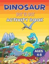 Dinosaur Dot to Dot Activity Book Ages 4-8