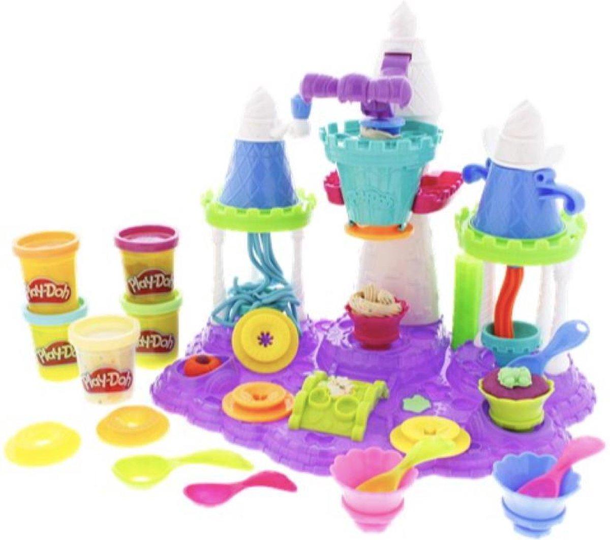 Play-Doh - ijskasteel - Speelgoed kasteel - Klei - Speelgoed klei - Play-doh ijskasteel - ijs - XL speelgoedset - ijsjes fabriek