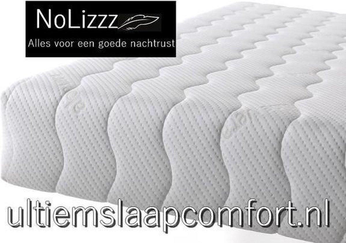 NoLizzz  2-Persoons Matras -POCKET HR45 KOUDSCHUIM 7 ZONE 25 CM - 3D  - fabrieksprijs! - 180x220/25