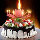 Lotus verjaardags kaars 8 delig Roze -  Verjaardag Versiering - Kaars  - Kaarsen - kaarsen