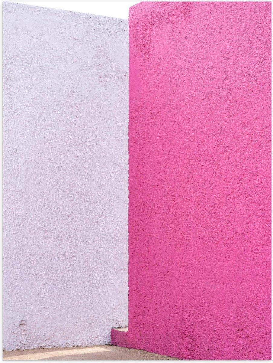 Poster   Roze Muren  - 30x40cm Foto op Posterpapier