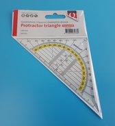 Geodriehoek - Liniaal - 14 CM - Plexiglas - Geodriehoeken - Quantore