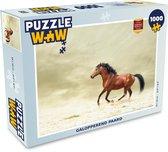Puzzel 1000 stukjes volwassenen Paarden 1000 stukjes - Galopperend paard  - PuzzleWow heeft +100000 puzzels