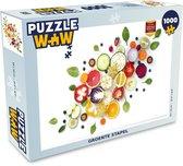 Puzzel 1000 stukjes volwassenen Flat Lay Eten 1000 stukjes - Groente stapel  - PuzzleWow heeft +100000 puzzels