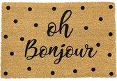 Bonjour Deurmat kokos met tekst oh bonjour / oh hello