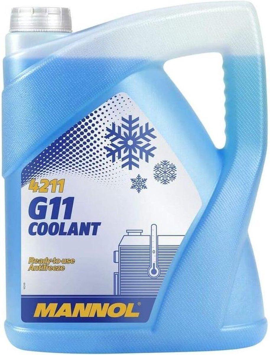 Mannol G11   Koelvloeistof -30 °C   Blauw   Ready to use   5 Liter
