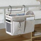 Bedside Pocket - Bed Opbergzak - Katoen - Lichtgrijs