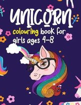 Unicorn Colouring Book For Girls Ages 4-8