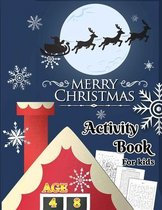 Merry Christmas Activity Book For Kids