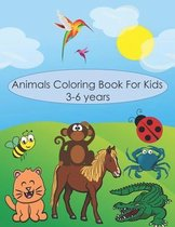 animals coloring book for kids 3-6 years