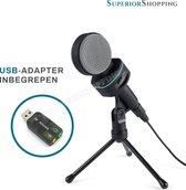 Studio Microfoon met Statief - USB - YouTube - Podcast - Karaoke - Skype - Zoom -Studio