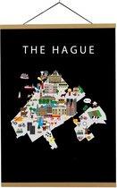 Kaart van Den Haag   B2 poster   50x70 cm   Maison Maps
