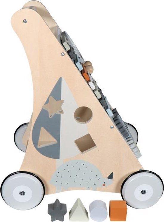 ✅  Tryco - Houten Speelgoed - Loopwagen - Wooden Baby Activity Walker - Hout | Multi