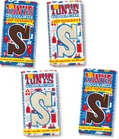 Tony's Chocolonely Sint Chocolade Letterreep Mix Pack - Puur Pepernoot, Wit Pepernoot en Wit - 4 x 180gr