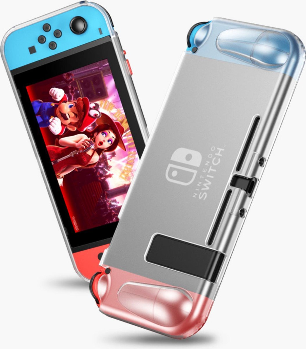 TIKKENS Nintendo Switch Silicone Matte Beschermcover - Transparant Matte - Protector Shell - Case -