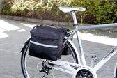 Maxi dubbele achter fietstas waterdicht, scheurvast duurzaam 14 liter inhoud-reflecterende strips