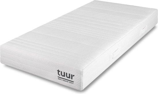 Tuur Matras 80 x 200 cm - 100% Natuurlatex - Ergonomische Comfortzones - Medium en Hard Comfort - 10 Jaar Garantie