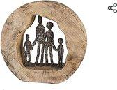 Beeld Family - hout - staal (bronskleur) Casablanca