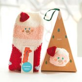 Fluff - Kerst Sokken | Kerstman | Piramide Doos