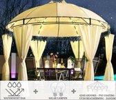 Eljardin - Rond Partytent | 350 cm | Waterdicht Dak | Wanden | Solar | Beige Paviljoen