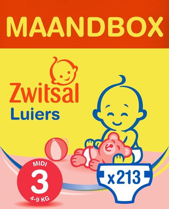 Zwitsal Luiers - Midi Maat 3 - 213 stuks - Voordeelverpakking