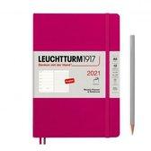 Leuchtturm agenda en notitieboekje Medium (A5) 2021, Softcover, Berry