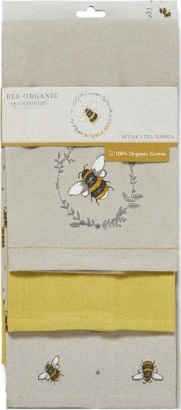 Cooksmart Theedoek (Per 3st.) Bumble Bee