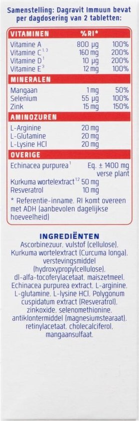 Dagravit Immuun - Multivitamine - 100 tabletten