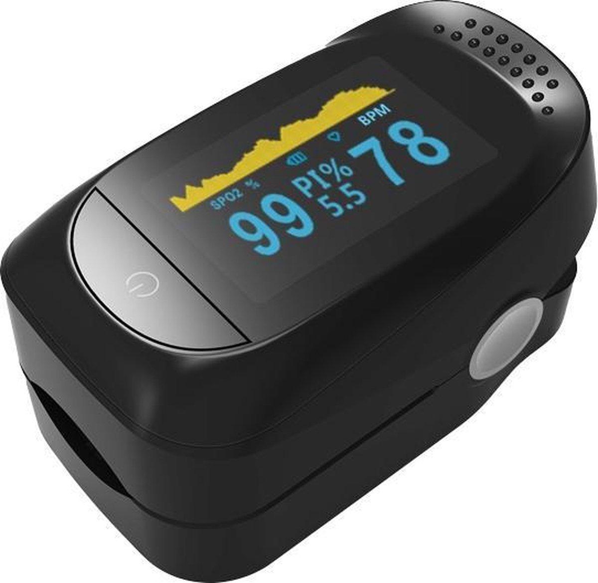 BURCH Med     Saturatiemeter zuurstofmeter vinger - Oximeter - CE + FAGG Medische kwalificatie en in