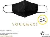 Wasbare mondkapje - Mondmasker - 4 laags en wasbaar - Hoogwaardig kwaliteit - Niet medische mondmasker - Zwart - Wasbaar - Mondkapje  - Face mask