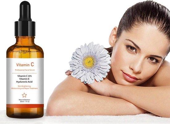 Simia™ Original Vitamine C Serum - Met Vitamine E & Hyaluronzuur - Gezichtsserum - Collageen - Anti Rimpel - Anti Acne - Tegen Pigmentvlekken - 30ml