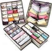 Kleding Opbergbox Set - Opvouwbare Kastlade Verdeler / Onder Bed Organizer Opberger - BH/Sokken/Ondergoed - Opbergsysteem Met Vakken - 4 Stuks