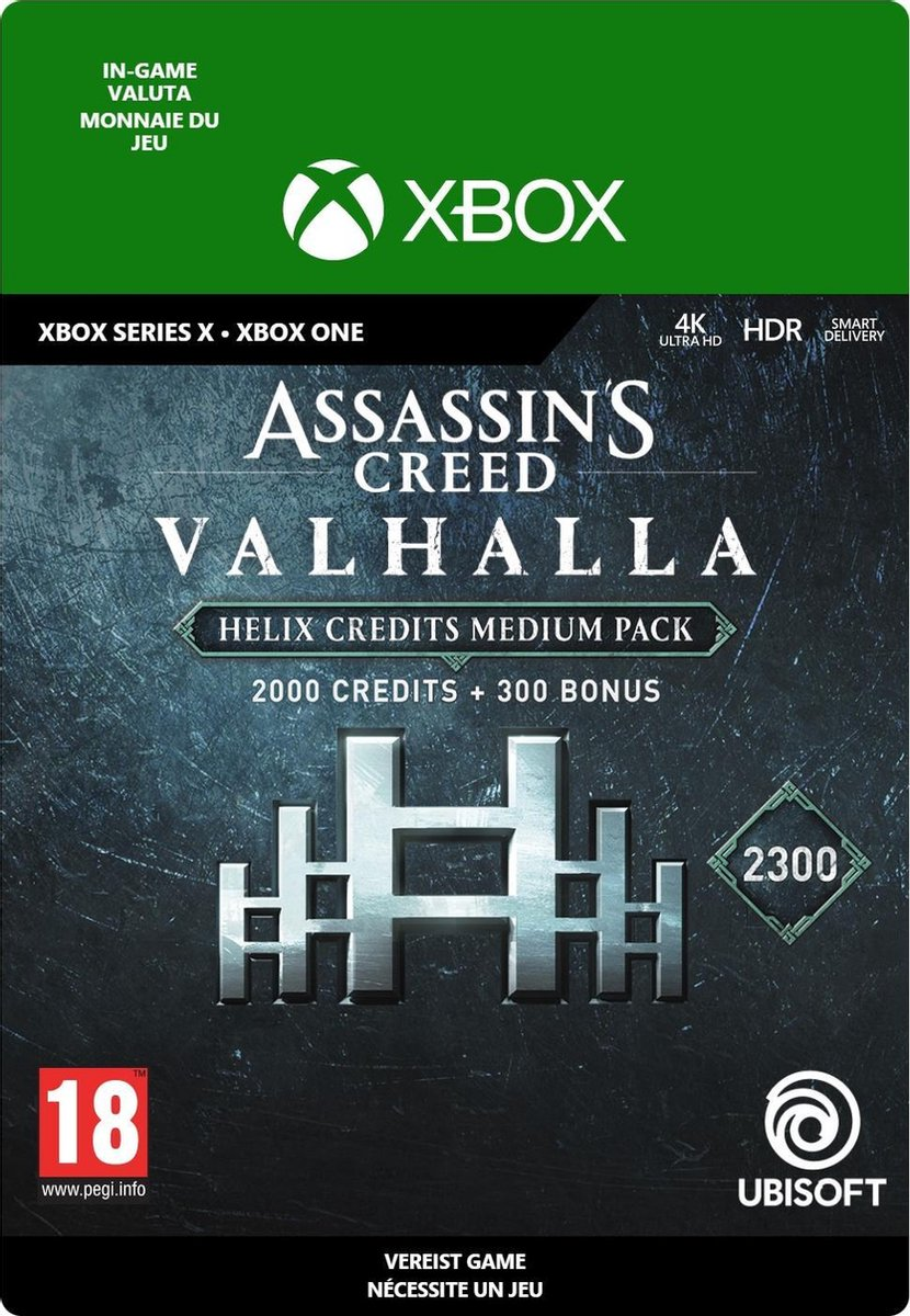 2.300 Assassin's Creed Valhalla Helix Credits Pack - In-game tegoed - Xbox One/Xbox Series X/S