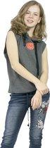 jtb-store Sleeveless fitnesshoodie in de kleur grijs maat XXL, deze hooded sweater heeft geen mouwen en is prima geschikt als fitnesskleding, yogakleding, sportoutfit. Hoodie of sporttrui
