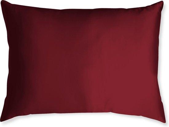 Satijnen kussensloop - Skin & Hair Pillow sleeve - Rood 60x70cm - Beauty kussen - Anti Allergeen + GRATIS satijn scrunchie