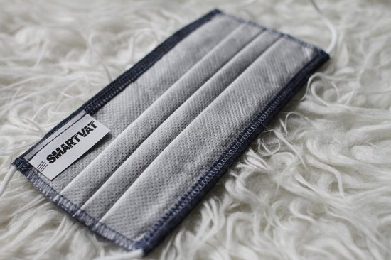 Mondkapje wasbaar - Jeans blauw - Herbruikbaar - Stoffen mondmasker - Katoen - Niet-medisch mondkapje
