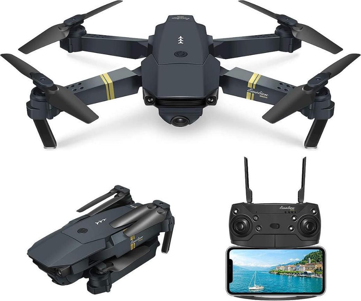 Trendtrading Mini Drone met Camera - 100m Bereik - HD Live-View via App   Zwart