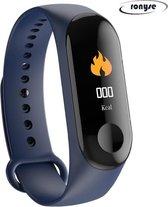 Stappenteller - Calorieënmeter - Hartslagmeter - Sport horloge - Bloeddrukmeter - Afstandmeter - Blauw - Smart Bracelet - IOS & Android - Voor Heren en Dames