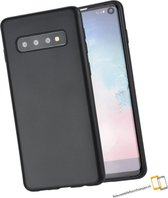 Samsung Galaxy S10 Plus Zwart siliconen backcover hoesje