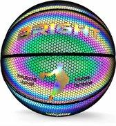 The BRIGHT™ Lichtgevende Basketbal | Reflecterend | Basketball | Holografisch | Glow in the Dark | Kinderen en Volwassenen | Unisex | Wit/Zwart/Roze/Blauw/Geel | Outdoor/Indoor | Maat 7