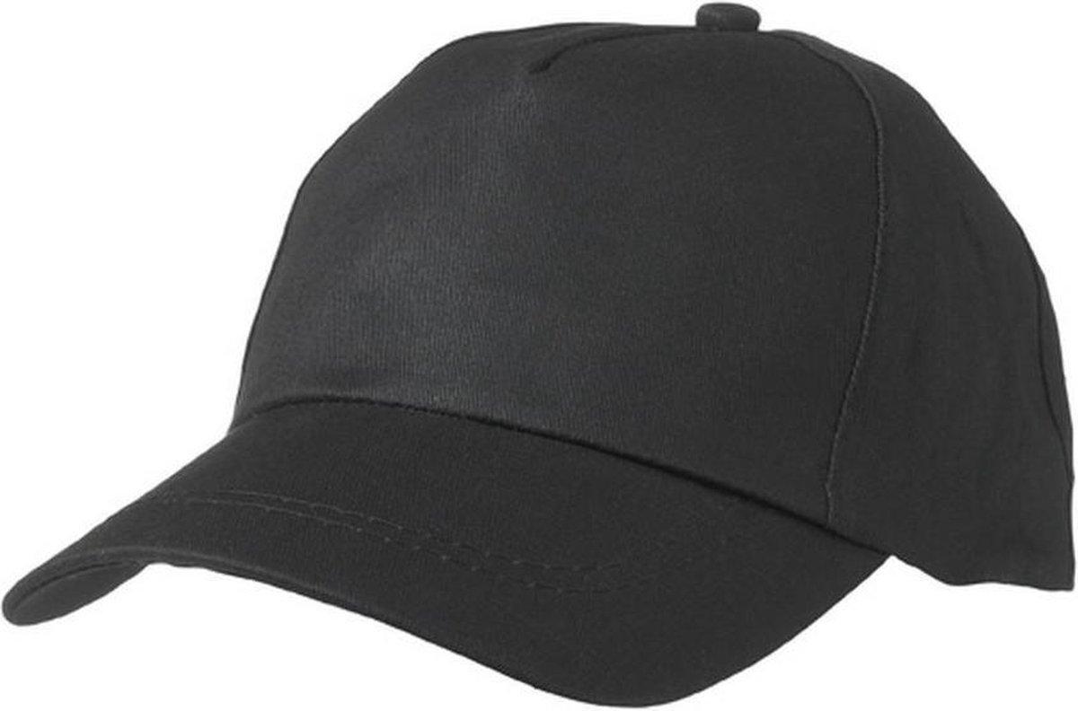 Myrtle Beach Volwassenen Unisex 5-paneel Licht gelamineerde Promo Cap (Zwart)