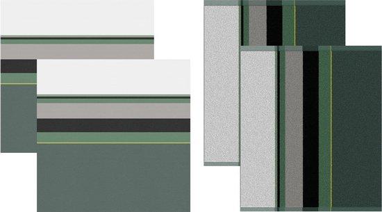 DDDDD Rico - 2 Theedoeken & 2 Keukendoeken - Green